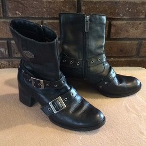 Harley-Davidson Leather Strappy Boots Size 5